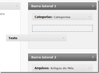 barra lateral wordpress5 - Menu não salva no WordPress – Limite de links