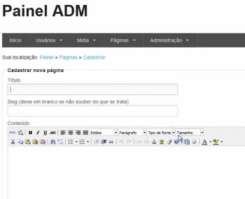 painel - Painel ADM com Codeigniter + Foundation - rbtech