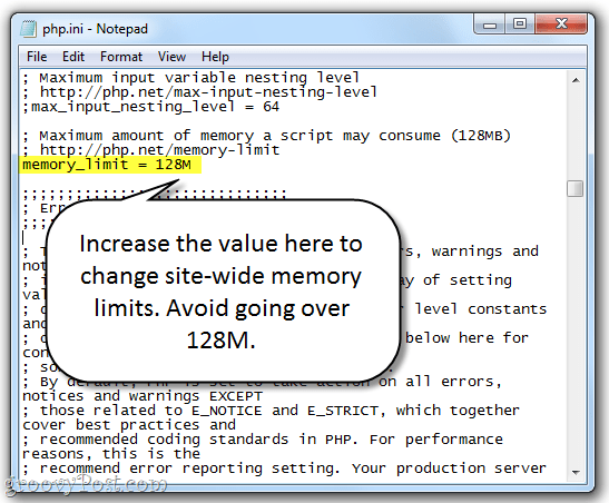 Allowed Memory - Allowed memory size of 268435456 bytes exhausted Erro de limite de memória (PHP memory limit)