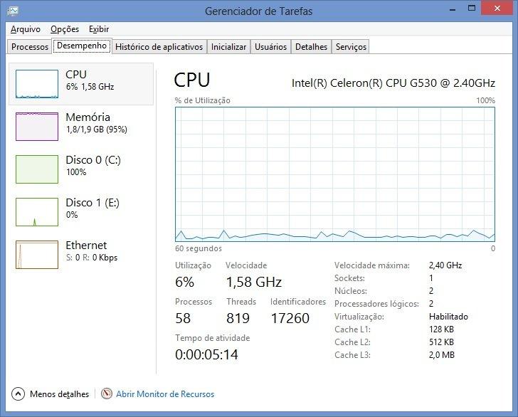 uso disco windows 81 - Uso 100% do disco regido win 7 8 e 10
